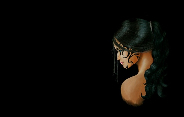 Picture girl, tattoo, art, fantasy
