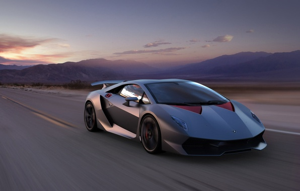 Picture Mountains, Lamborghini, Speed, Landscape, Supercar, Supercar, Elemento, Sesto