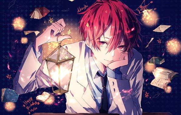 Picture smile, books, anime, art, lantern, form, guy, akashi seijuurou, No Basuan of the kur, supaner