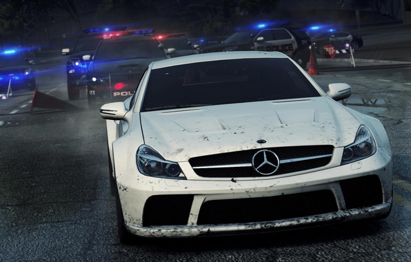 Picture Mercedes, Benz, Need for Speed, nfs, racing, Black Series, SL65, Most Wanted 2012
