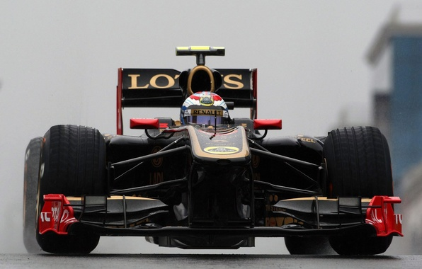 Picture rain, track, formula 1, Turkey, formula 1, 2011, renault, lotus, Petrov, Lotus-Renault, Vitaly