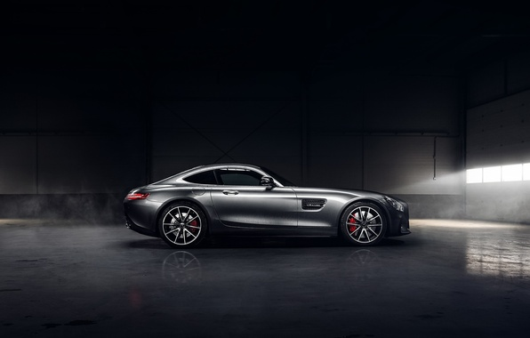 Picture Mercedes-Benz, Dark, AMG, Sun, Color, Side, Silver, Ligth, 2016, GT S