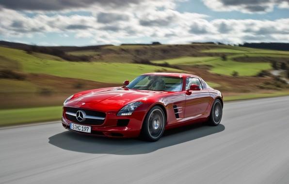 Picture Mercedes, sports car, SLS