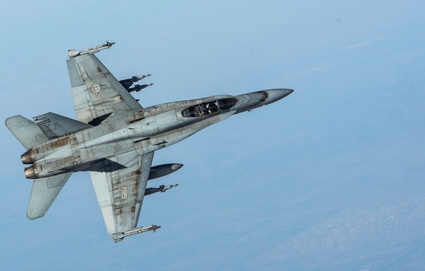 Picture weapons, the plane, CF-18 Hornet