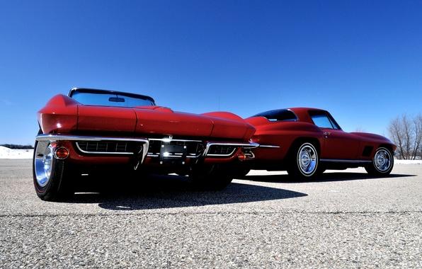 Picture the sky, Corvette, Chevrolet, Chevrolet, Sting Ray, Corvette, Sting Ray