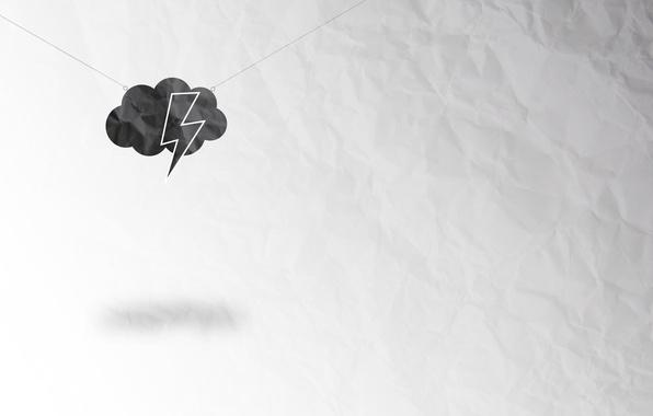 Picture sheet, lightning, cloud, paper