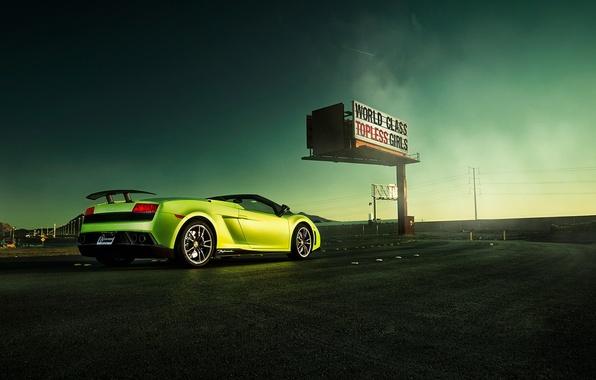 Picture road, lamborghini gallardo, autowalls, Lamborghini Gallardo