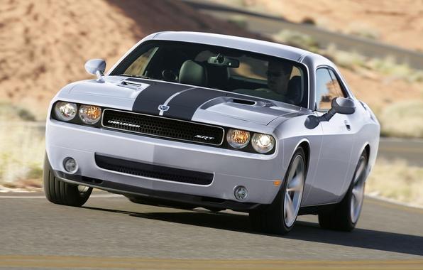 Picture machine, grey, Dodge, rides, SRT