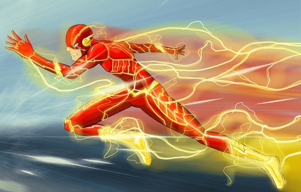Picture speed, art, flash, DC Comics, Flash