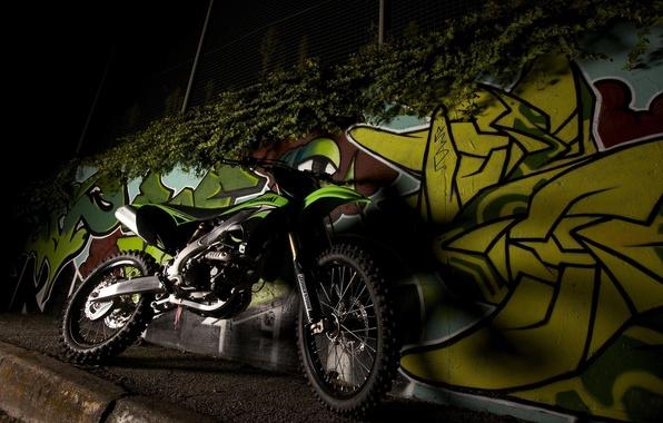 Picture Night, Graffiti, Motorcycle, Kawasaki