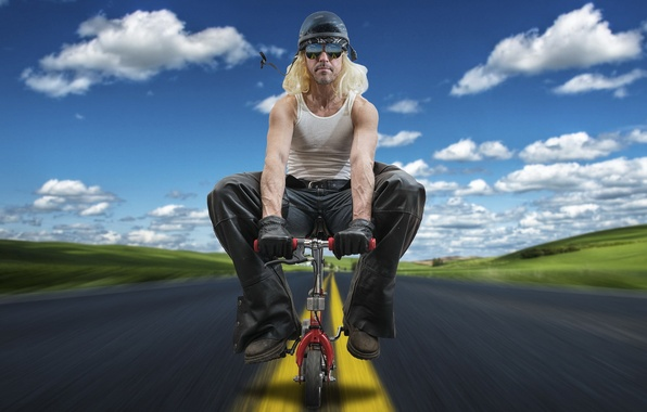 Picture road, bike, male