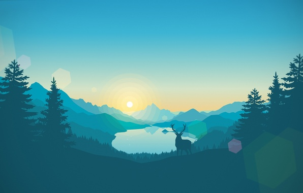 Picture Nature, Mountains, Forest, Landscape, Game, Firewatch