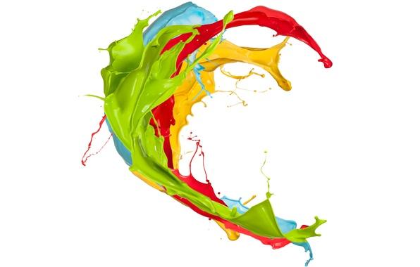 Picture squirt, paint, colors, design, splash, paint