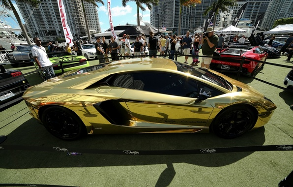 Picture Lamborghini, gold, Aventador, LP720-4, Lamborghini Aventador LP720-4