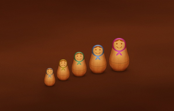 Picture dolls, figures