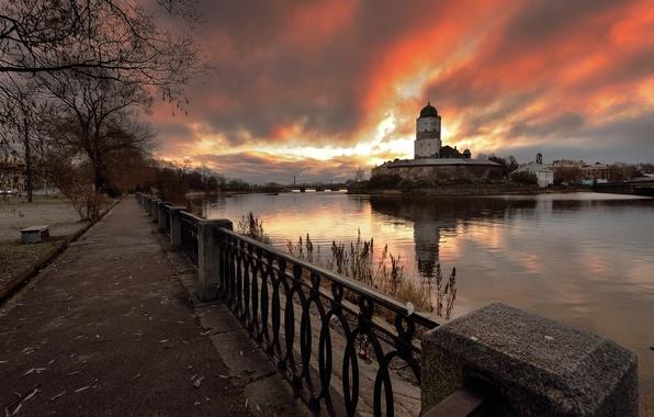 Picture dawn, Russia, 2014, Vyborg, 1-Nov