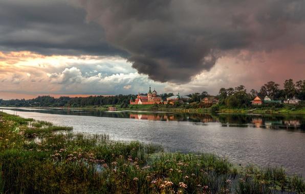 Photo wallpaper Russia, Staraya Ladoga, before the storm