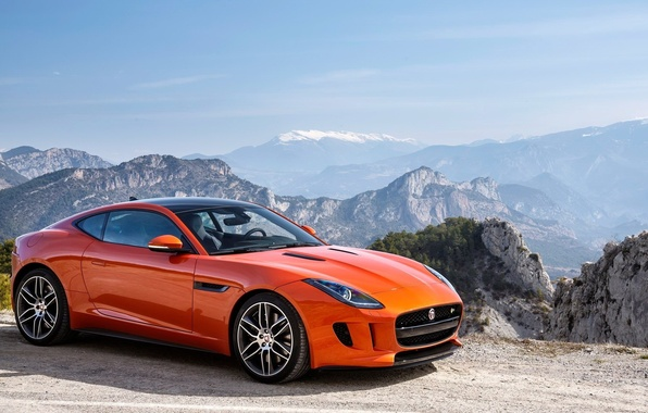 Picture jaguar, coupe, orange, f type