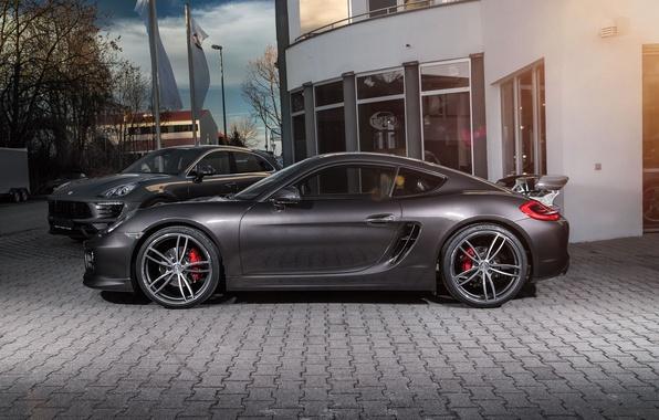 Picture black, Porsche, Cayman, Porsche, TechArt, Caiman