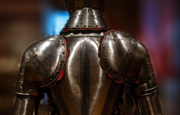 Picture metal, background, pattern, armor, knight, rear view