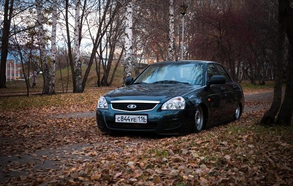 Photo wallpaper Lada, Prior, Lada, 2170, auto, machine, auto, very leaves, Priora