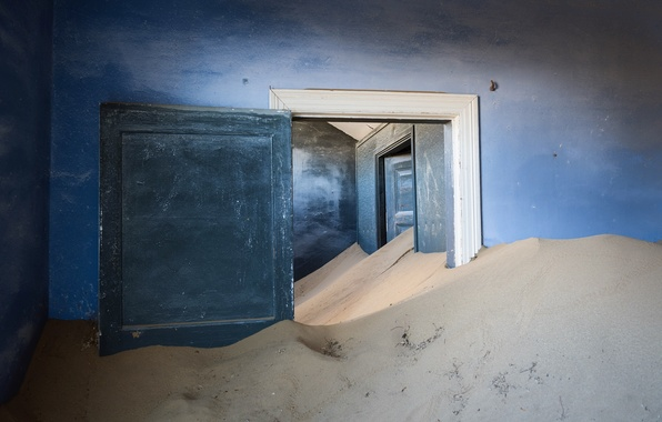 Picture sand, room, the door