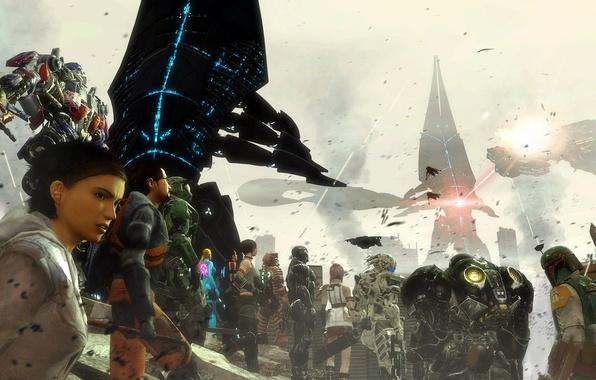 Picture starcraft, Halo, Gordon Freeman, dead space, lightning, Mass Effect, art, crysis, Alyx Vance, bulletstorm, transformers, …
