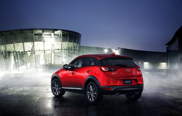 Picture red, photo, Mazda, back, Mazda, car, metallic, 2015, CX-3