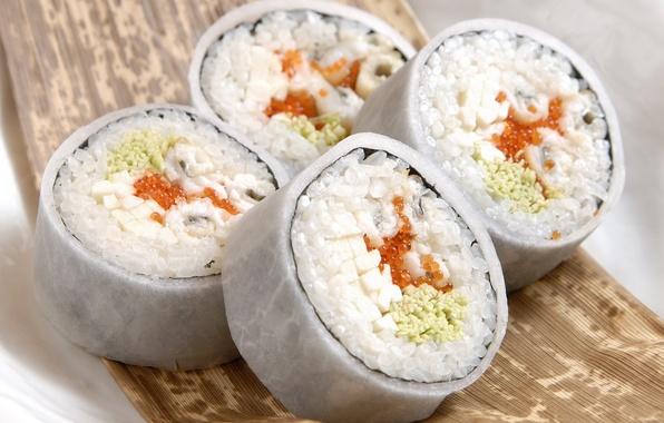 Picture macro, food, fish, figure, caviar, food, 1920x1200, macro, sushi, sushi, fish, fish eggs, rolls, rice