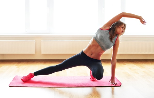 Photo wallpaper pose, stretching, yoga, posture, woman