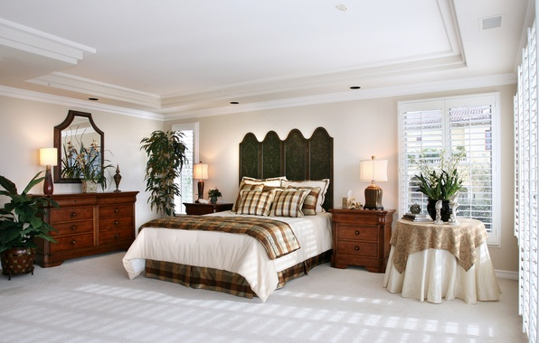Picture design, photo, table, bed, interior, bedroom