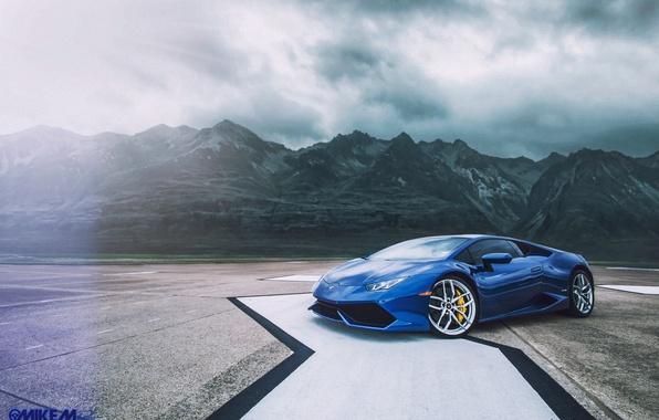 Picture mountains, Lamborghini, Texas, Huracan