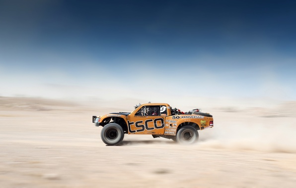 Picture Orange, Car, Sky, Team, Motion, Competition, Blur, Desert, Mint 400, Desert Race, Offroad