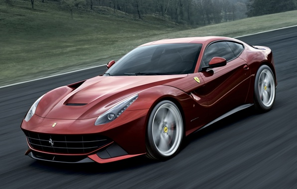 Picture road, red, supercar, ferrari, Ferrari, the front, f12, berlinetta, F12, berlineta