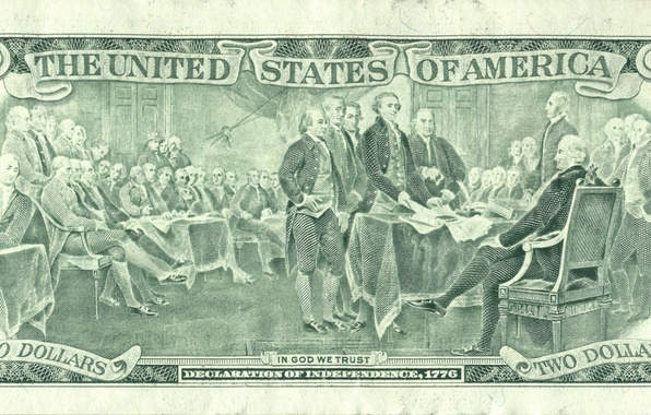 Picture United States, money, God, America, trust, declaration, the independence of the dollar