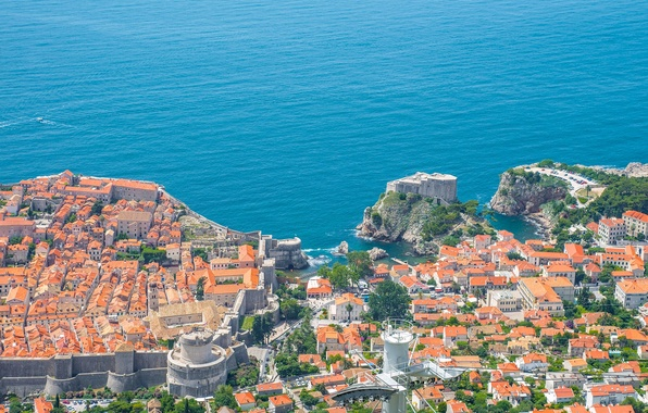 Picture sea, coast, building, panorama, Croatia, Croatia, Dubrovnik, Dubrovnik, The Adriatic sea, Adriatic Sea