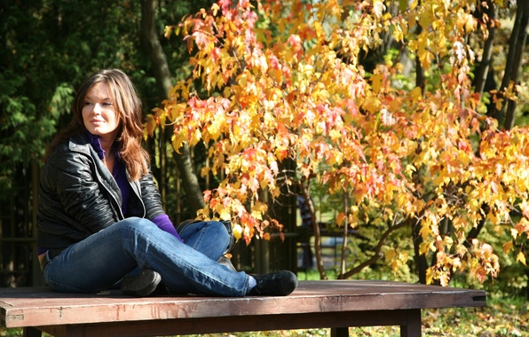 Picture autumn, Girl, October