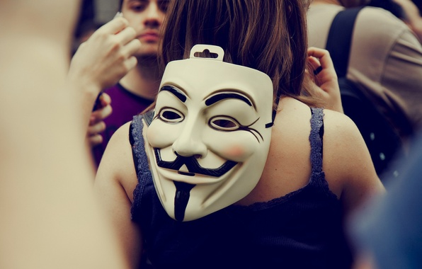 Picture Color, White, Mustache, People, Eyes, Mask, Different, Anonymous, The crowd