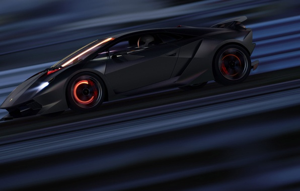 Picture Lamborghini, Speed, Supercar, Supercar, Elemento, Sesto, Brake