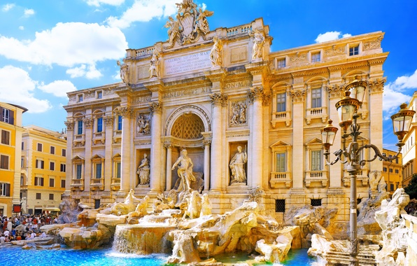 Picture the city, Italy, italy, rome, Rome, the Trevi fountain, trevi fountain