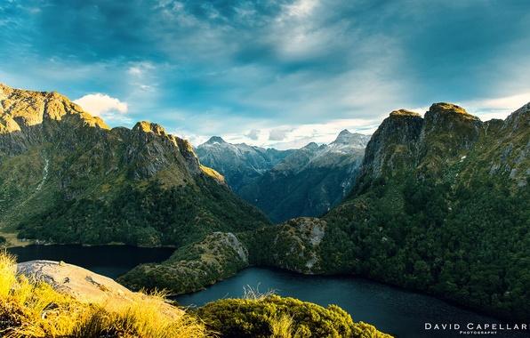 Picture landscape, mountains, nature, river, New Zealand, David Capellari