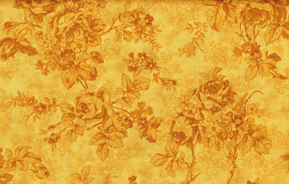 Picture flowers, yellow, background, patterns, texture, gold