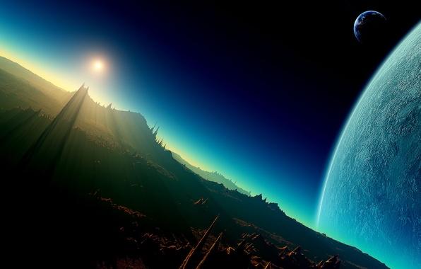 Picture Planet, Space, Stranger, Dawn, Fiction