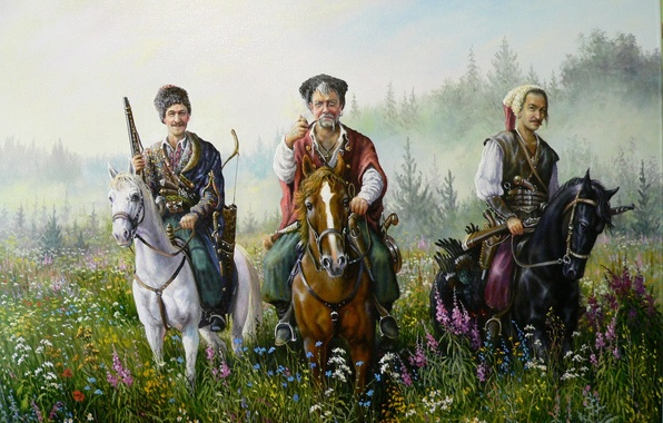 Picture smile, art, Cossacks, Andrey Lyakh