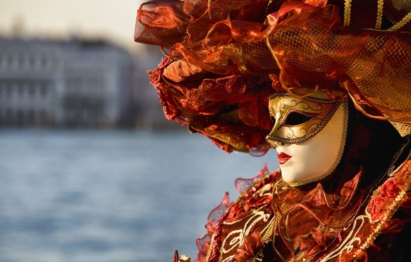 Picture mask, Venice, outfit, carnival, Venice, Venice