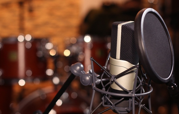 Photo Wallpaper Colorful Pop Filter Drums Lights Studio Macro