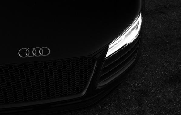 Picture machine, black, Audi R8, car