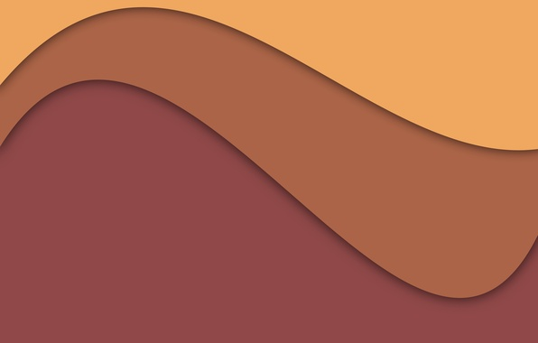 Picture line, yellow, abstraction, brown