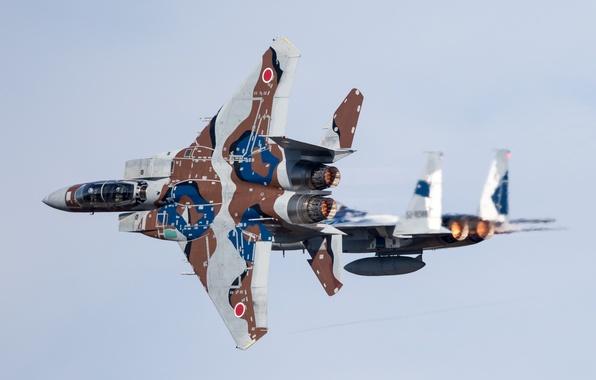 Picture fighters, Mitsubishi, flight, F-15DJ