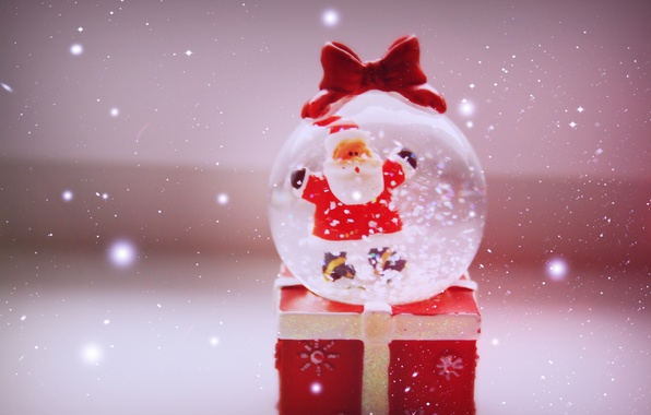 Picture winter, snow, mood, holiday, gift, new year, ball, red, love, new year, miracle, winter, Santa ...